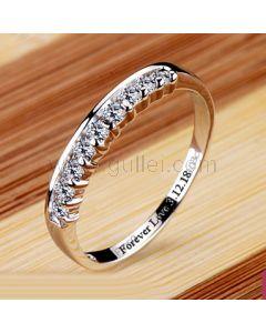 1.8 Carat Diamond Wedding Ring for Her Sterling Silver