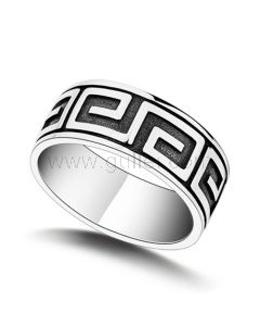 Customized Mens Wedding Ring Sterling Silver 13.3mm