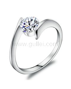 Engravable 0.85 Carat Diamond Anniversary Ring for wife