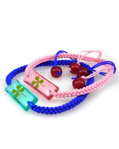 Personalized Rope Clover Bracelets Couples Gift Set for 2