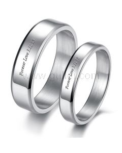 Personalized Matching His and Hers Wedding Rings for 2