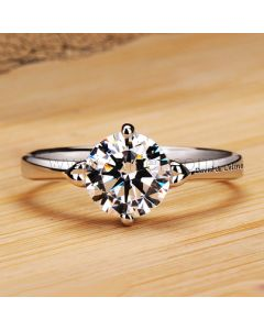 1.2 Carat Solitaire Diamond Engagement Ring for Her