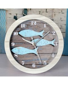 Cute little Fish Wooden Table Clock