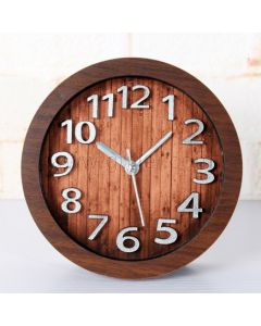 Unique Small Wooden Table Clock Gift for Newly Weds