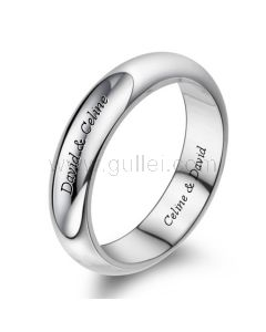 Personalized Engraved Promise Ring for Men Sterling Silver 5mm
