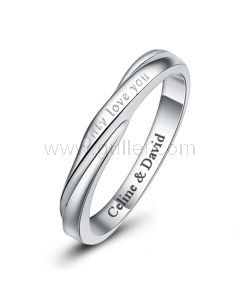Personalized Name Promise Ring Sterling Silver 3.3mm