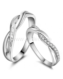 Unique Personalized Curved Wedding Bands for Couples