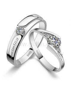 Custom Wedding Bands for Men and Women Sterling Silver