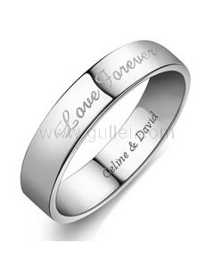 Personalized Name Engagement Ring for Her 2.5mm