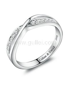 Personalized Engraved Wedding Ring for Women 4mm