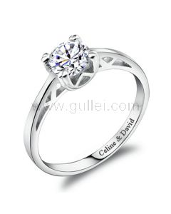 Personalized Engagement Ring for Women 0.65Ct Diamond 5.5mm