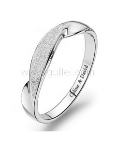 Engraved Promise Ring for Her Sterling Silver 4mm