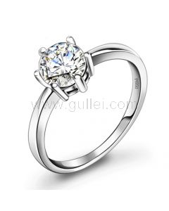 Personalized Cheap Diamond Engagement Ring for Women Platinum