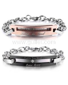 Personalized Promise Bracelets Christmas Gifts Set for Couples