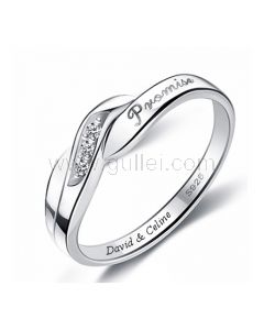 Custom Promise Ring for Him or Her Sterling Silver 4mm