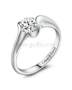 Celebrity Style 0.8 Carat Diamond Engagement Ring for Her
