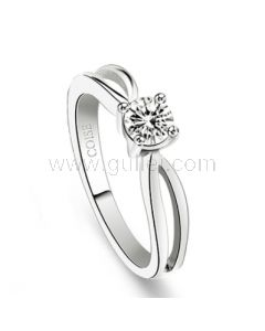 Name Engraved Commitment Ring for Her Cubic Zirconia