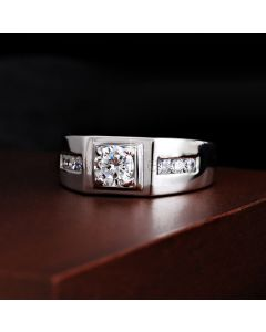 Unique Personalized Wedding Ring for Men Sterling Silver 9mm
