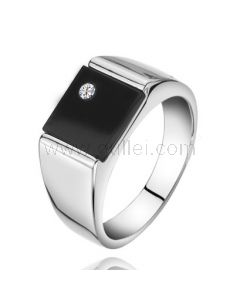 Customized Guys Wedding Ring Sterling Silver