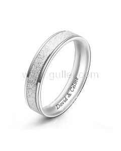 Ring for Men or Women with Custom Names Sterling Silver