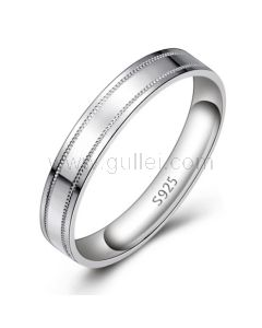 Popular Silver Mens Commitment Ring with Custom Engraving