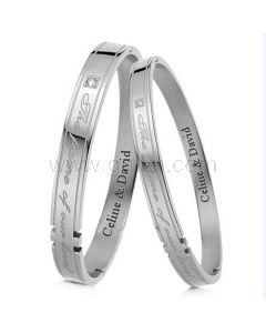 Custom Engraved His and Hers Couples Relationship Bracelets