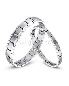 Personalized Magnetic Couples Bracelets with Names Engraved