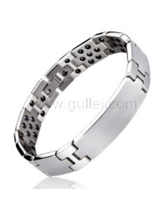 Personalised Mens ID Bracelet with Energy Magnets