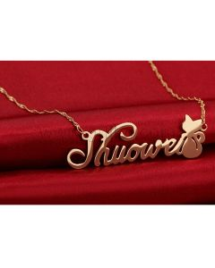 Cat Customize Name Necklace Birthday Gift for Her