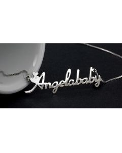 Hearts Customize Name Necklace Birthday Gift for Her