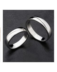 Custom Engraved Sterling Silver Couples Wedding Rings for 2