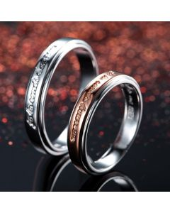 Sterling Silver Customized Promise Matching Bands for 2