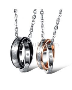 Forever Love Matching Necklaces for Couples Set of 2