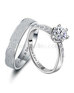 Distance Relationship Promise Rings Gift for Couples