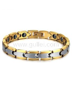 Gold Plated Tungsten Mens Bracelet Gift for Him