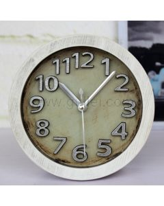 Unique Small Wooden Table Clock for Bedroom