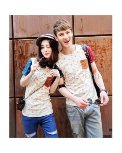Korean Design Matching Tshirts for Couples Set of 2