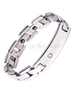 Magnetic Mens ID Bracelet with Customized Engraved