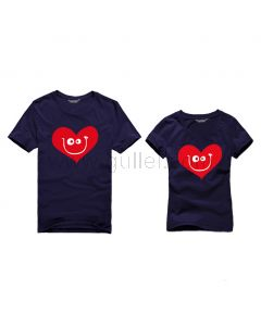 On Sale Funny Hearts Matching Girlfriend Boyfriend Couple T Shirts for 2