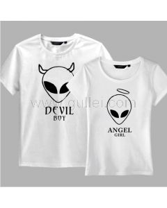 Devils Matching Clothes T Shirts for Teenagers Set of Two