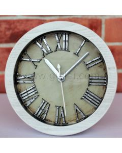 Wooden Decorative Roman Letters Bedroom Side Table Clock