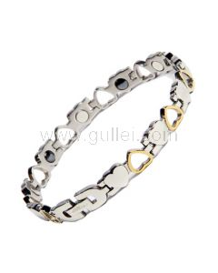Engravable ID Bracelet for Women with Energy Magnets