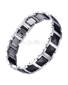 Unique Energy Magnets Sports Mens ID Bracelet with Engraving