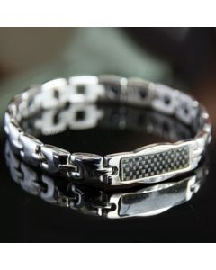 Customized Mens ID Bracelet with Energy Magnets