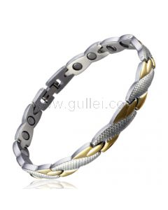 Gold Plated Steel ID Bracelet for Women with Custom Engraving