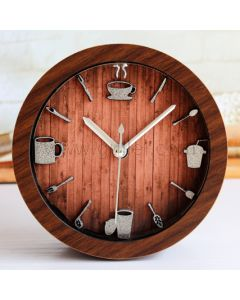 Cute Small Wooden Clock for Kitchen Table
