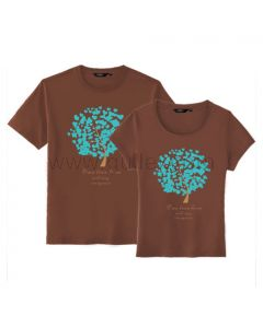 Boyfriend Girlfriend Matching Tree T Shirts for Sale Set for Two