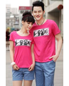Matching Unique Love T Shirts for Married Couples Set of Two