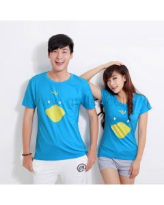 Funny Cartoons Matching Couple T Shirts for Two