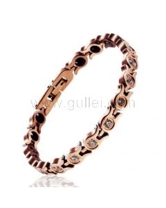 Custom Engraved Womens ID Bracelet with Health Magnets